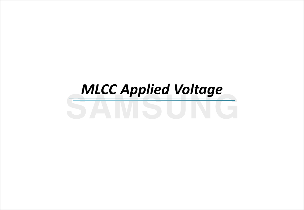 MLCC Applied Voltage